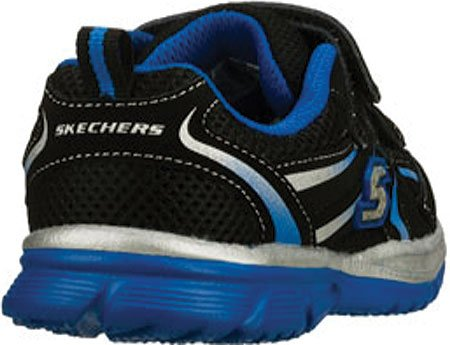 Skechers Mens Speedees Burn Outs, Zwart / Blauw, Us 10 M