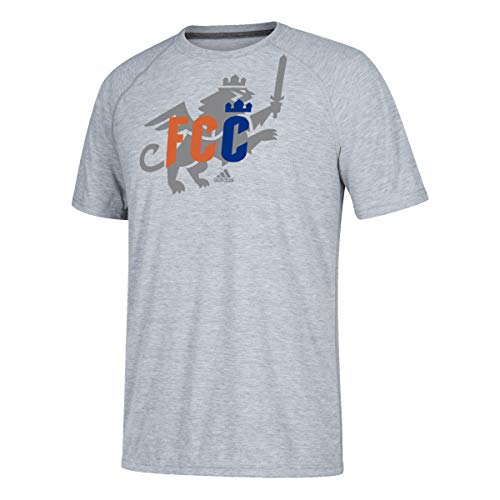 adidas FC Cincinnati Men's Ultimate Logo Heathered Gray T-Shirt (Small)