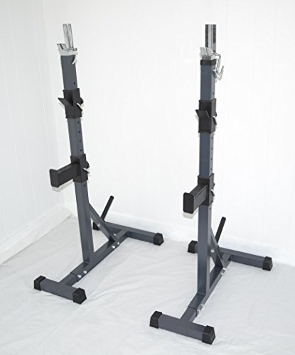 Adj Squat Rack Bench Safety Weight Catch Multi Purpose Space Saver Power Racks Train Gain Win