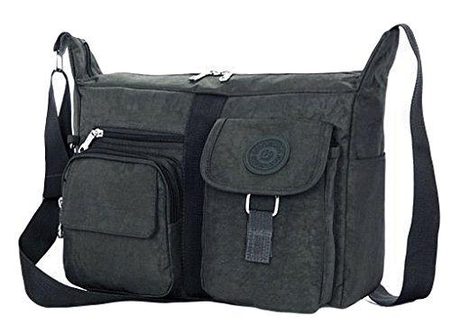 Strong Shoulder amp; Army Top GFM Durable Fabric Grey Ambh Hand Nylon Handle Women's Bag Z6UwnTB