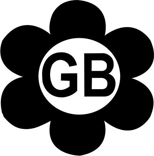 GB Flower Vinyl Decal Sticker Bumper Car Truck Window- 15