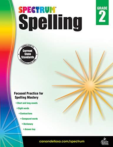 - Carson-Dellosa Spectrum Spelling Workbook, Grade 2