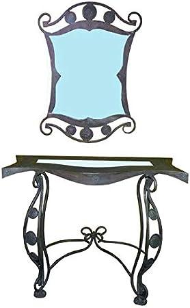 Consolle In Ferro Battuto Con Specchio.Art Kr18 Consolle Con Specchio In Ferro Battuto Amazon It Casa E Cucina