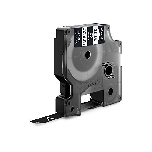 Amazon.com: Rhino Vinilo adhesivo de la cinta de etiquetas, 3/8 pulgadas, de 18 pies de casete, Negro (1805437): Electronics