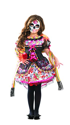 Senorita Costume Makeup (Day of the Dead Fiesta Senorita Kids Costume)