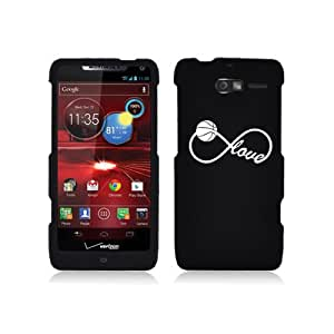 Motorola Droid Razr M XT907 Snap On 2 Piece Rubber Hard Case Cover Infinite Infinity Love for Basketball (Black)