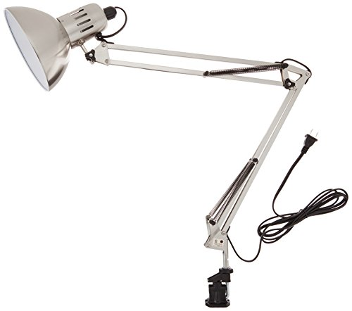 Lite Source LSF-105PS Swing-Arm Lamp, Polished Steel - Polished Chrome Swing Arm Lamp