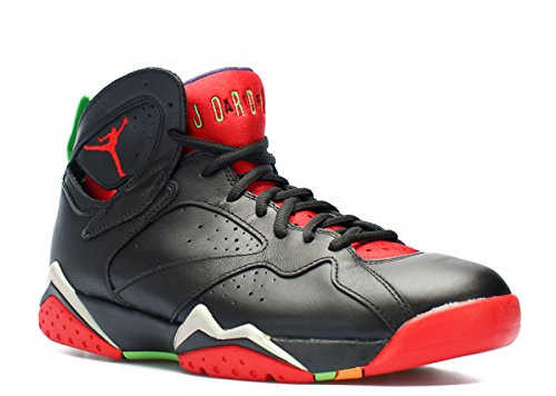 Jordan Air 7 Retro Men Basketball Shoes Black/University Red-Green-Grey 304775-029 (10.5 D(M) US)