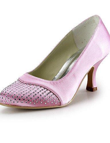 GGX/Damen Schuhe Seide Stiletto Heel Heels/Schuhe Heels Hochzeit/Party & Abend/Kleid Blau/Rot/Weiß/Beige 3in-3 3/4in-red