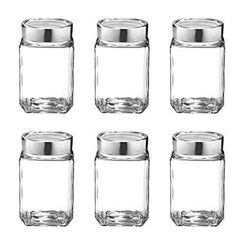 Treo by Milton Cube Storage Glass Jar, Set of 6, 310 ml, Transparent Price & Reviews
