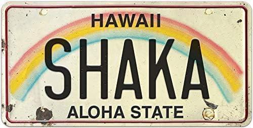 Tin speaking Island Art License Plate Magnet Souvenir Hawaii Home Metal Plate Bedroom Tin Plate Bar Tin Painting