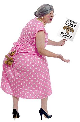 [Mememall Fashion Funny Lost Puppy Grandma Old Lady Adult Costume] (Old Grandma Costumes)