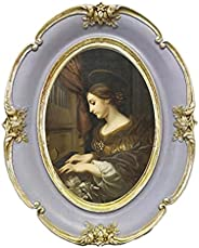Baoblaze Porta-retratos retro vintage - porta-retratos com tampa de vidro transparente - Exibição de fotos - p