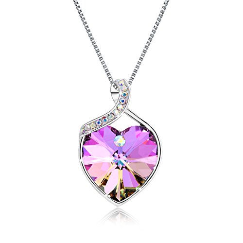Heart Pendant Women's Necklace The Crystal From Swarovski 18