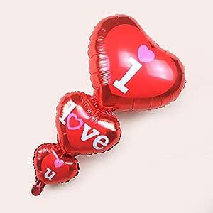 بالون أنا أحبك i love you ,اللون أحمر