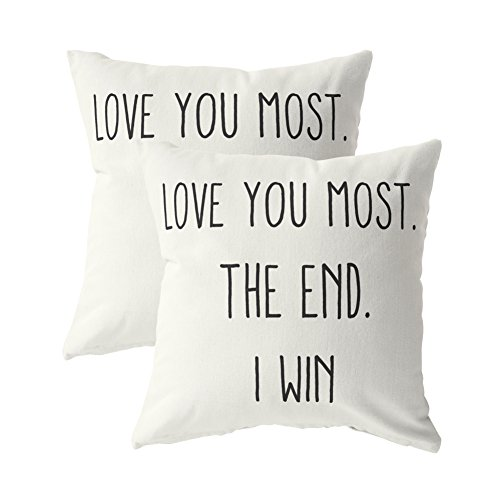 Love You Most. The End. I Win, Pillow Cases | Buy 1 Get 1 | Decor - Face How Of Get To Good Shape