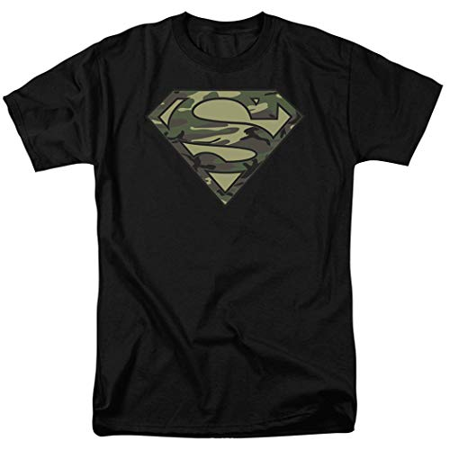 Popfunk Camo Superman Logo S Shield Black T