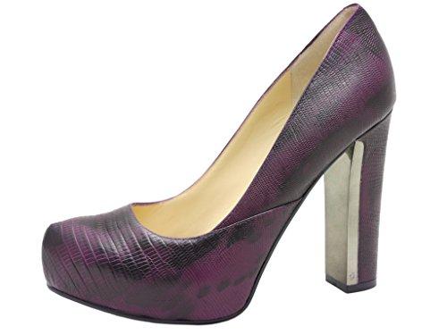 Guess - Zapatos de vestir de cuero repujado para mujer