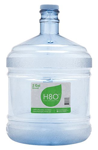 Bottle Durable Polycarbonate (H8O Polycarbonate Water Bottle (with Handle) with 48mm Cap, 2 Gallon)
