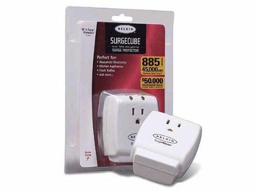 BELKIN SURGEMASTER HOME SERIES - SURGE SUPPRESSOR ( EXTERNAL ) - 1 OUTPUT CONNEC - Sold as 2 Packs