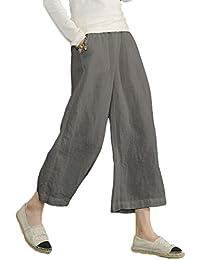 Women's Elastic Waist Causal Loose Trousers Plus 100...