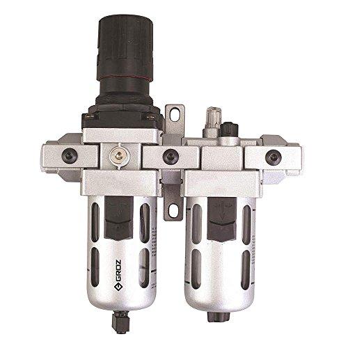 Groz - 7DX39 - 3/8 NPT Filter/Regulator/Lubricator with 7 to 145 psi Adjustment Range