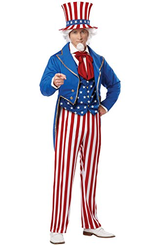 California Costumes Men's Uncle Sam Adult, Red/Blue/White, X-Large