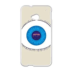 HTC One M7 Cell Phone Case White MIND'S EYE LV7990155