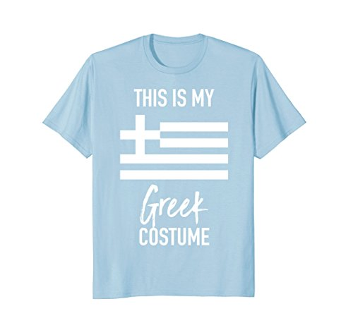 Mens This is my Greek Costume T-Shirt - Funny Halloween Tee Large Baby (Greek Themed Party Costumes)