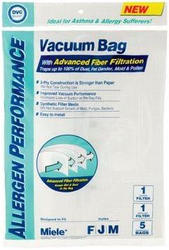 Amazon.com: Miele FJM DVC marca alergénico bolsas 5 Pack ...