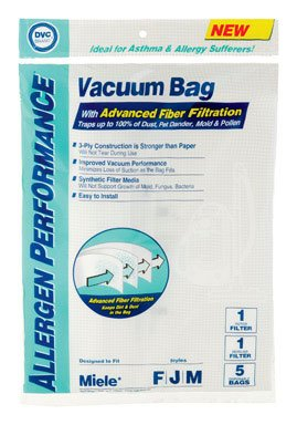 Miele FJM DVC Brand Allergen Bags 5 Pack (Galaxy Brands Bag)