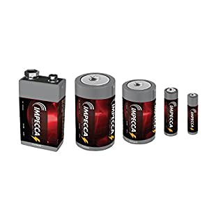 IMPECCA 9 Volt Batteries, All Purpose Alkaline Battery (24-Pack) High Performance + Long Lasting 9V Battery, Leak Resistant 24 Count 6LR61 - Platinum Series