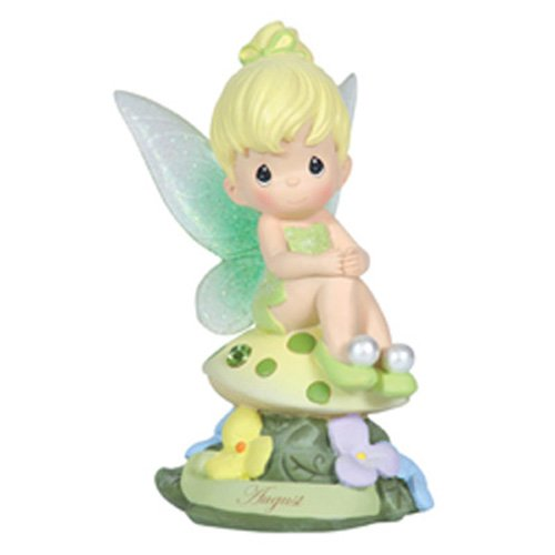 Precious Moments, Disney Showcase Collection,  August Fairy As Tinker Bell, Resin Figurine, Peridot, 113215 ()