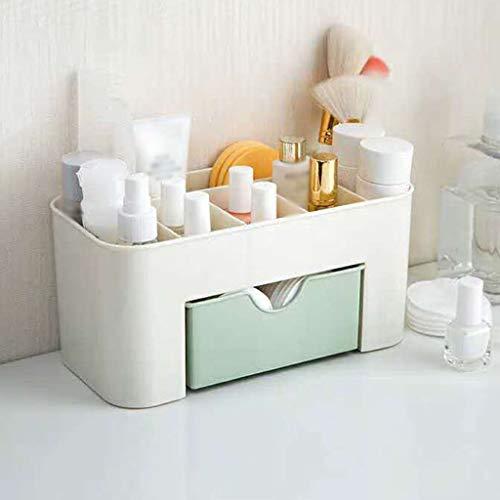 Makeup Organizer Desktop Storage Box, Jewelry Cosmetic Classification Drawer Plastic Bedroom Bathroom Dressing Table-Blue