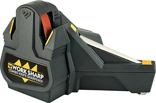 Work Sharp WSCMB Combo Knife Sharpener, Consistent & Precision Cutting Edge, Tapered Ceramic Honing Rod, Long-Lasting Abrasive Belt for all the knives in your collection
