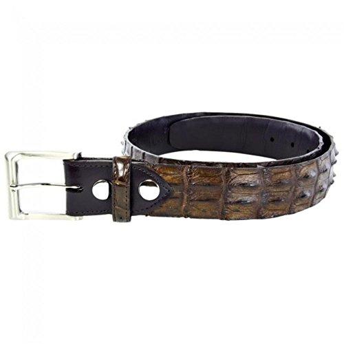 [Genuine Hornback Crocodile Leather Belt (44