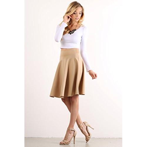 51ae6b438f0e50 cheap Simlu Womens Crop Top Round Neck Basic Long Sleeve Crop Top with  Stretch - USA