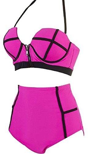 C.X Trendy Damen Bikini-Set mehrfarbig mehrfarbig Medium Rosarot fZ3gJrC7