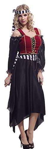 Cohaco Women's Sea Captain Pirate Costume (Queen Style) - Caribbean Pirate Queen Costume