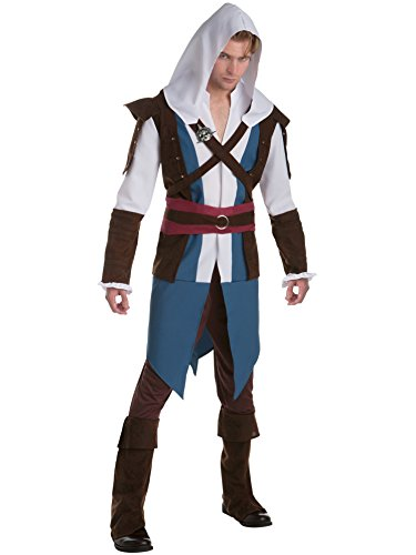 Palamon Men's Assassin's Creed Edward Classic Costume, Blue, (Assassin Creed Movie Costume)