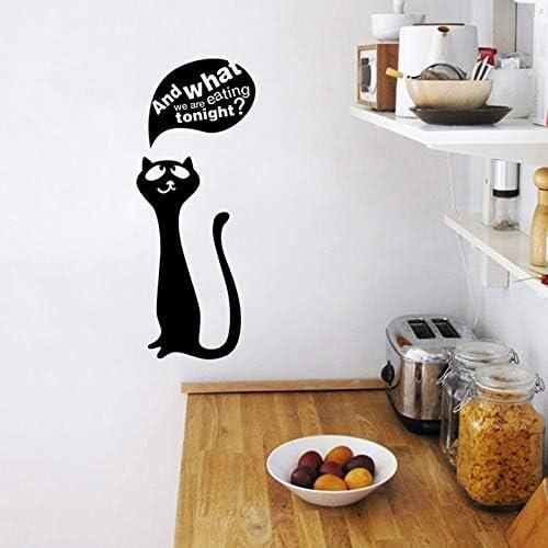 Amazon Com Amano Mangiare Gatto Autoadesivi Di Arte Ristorante Cucina Adesivi Murali In Vinile Smontabili Fai Da Te Home Decor Carta Da Parati Impermeabile28x25cm Kitchen Dining