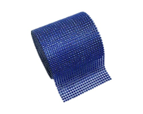 Silver Rhinestone Ribbon Diamond Bling Sparkle Wrap Bulk DIY Roll for Event Decorations Bridal/Baby Shower Birthdays, Arts & Crafts Vase & Party Decorations (Royal Blue, 10 - Blue Rhinestone Bling