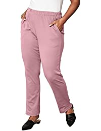 Women's Plus Size Petite Soft Knit Straight-Leg Pants