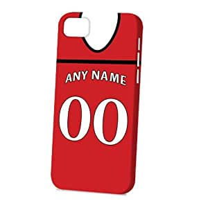 Case Fun Apple iPhone 5C Case - Vogue Version - 3D Full Wrap - Personalised Cardiff City Football Shirt, Any Name, Any Number