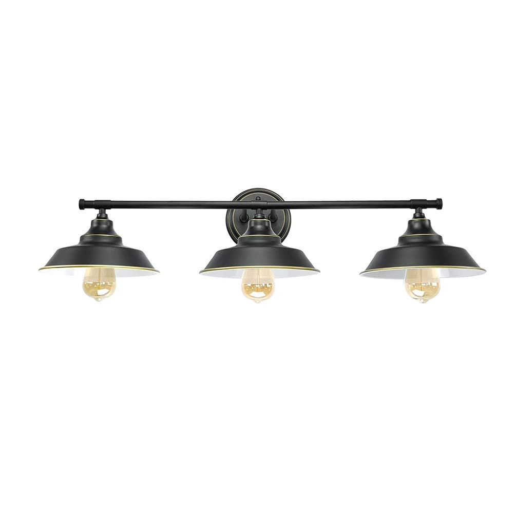 LMSOD Vintage Industrial Black 3 Light Tube Wall Sconce Lighting Fixture Fashion Simplicity Metal Based