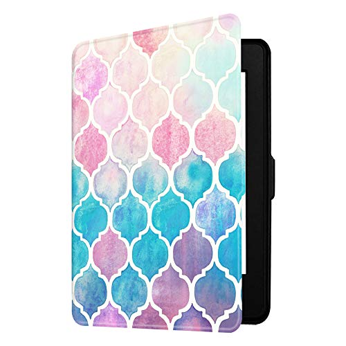 Fintie Slimshell Case for Kindle Paperwhite - Fits All Paperwhite Generations Prior to 2018 (Not Fit All-New Paperwhite 10th Gen), Moroccan Love