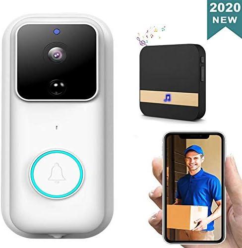 WiFiビデオドアベルカメラ1080P HDワイヤレススマートビデオドアベル、チャイム、防犯カメラモーション検出器