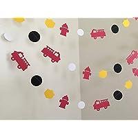 Fireman Birthday Party 10ft Paper Garland, Birthday Party Decor, Wedding Shower Decor, Nursery Décor