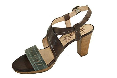 Con Scarpe Tacco Aperte Jeans Pikolinos Donna E Marrone Sandali YxC4wPSqxT