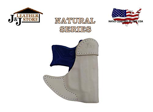 J&J Custom Fit SIG SAUER P365 Formed Front Pocket Premium Natural Leather Holster (Natural)
